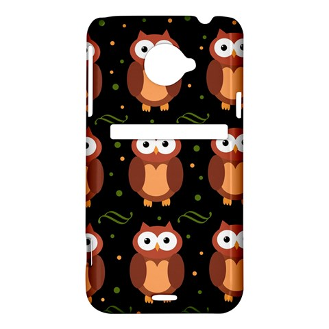 Halloween brown owls  HTC Evo 4G LTE Hardshell Case