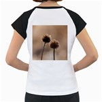 Withered Globe Thistle In Autumn Macro Women s Cap Sleeve T Back