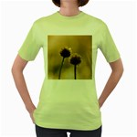 Withered Globe Thistle In Autumn Macro Women s Green T-Shirt Front