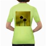 Withered Globe Thistle In Autumn Macro Women s Green T-Shirt Back