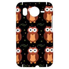 Halloween brown owls  HTC Desire HD Hardshell Case