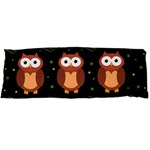 Halloween brown owls  Body Pillow Case (Dakimakura) Body Pillow Case