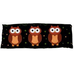 Halloween brown owls  Body Pillow Case Dakimakura (Two Sides)