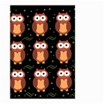 Halloween brown owls  Small Garden Flag (Two Sides) Front