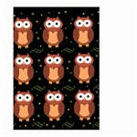 Halloween brown owls  Large Garden Flag (Two Sides) Back