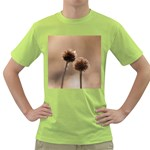 Withered Globe Thistle In Autumn Macro Green T-Shirt Front
