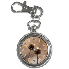 Withered Globe Thistle In Autumn Macro Key Chain Watches