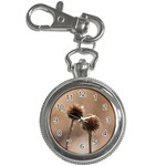 Withered Globe Thistle In Autumn Macro Key Chain Watches Front