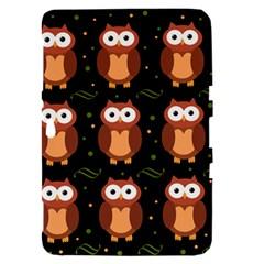 Halloween brown owls  Samsung Galaxy Tab 8.9  P7300 Hardshell Case