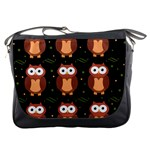Halloween brown owls  Messenger Bags Front