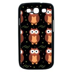 Halloween brown owls  Samsung Galaxy S III Case (Black)