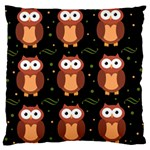 Halloween brown owls  Large Cushion Case (Two Sides) Back