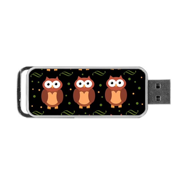 Halloween brown owls  Portable USB Flash (One Side)