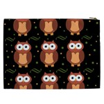 Halloween brown owls  Cosmetic Bag (XXL)  Back