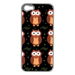 Halloween brown owls  Apple iPhone 5 Case (Silver) Front