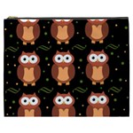 Halloween brown owls  Cosmetic Bag (XXXL)  Front