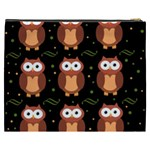Halloween brown owls  Cosmetic Bag (XXXL)  Back