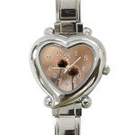 Withered Globe Thistle In Autumn Macro Heart Italian Charm Watch Front