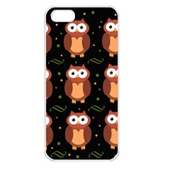 Halloween brown owls  Apple iPhone 5 Seamless Case (White)