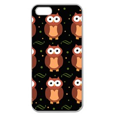 Halloween Brown Owls  Apple Seamless Iphone 5 Case (clear)