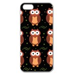 Halloween brown owls  Apple Seamless iPhone 5 Case (Clear) Front