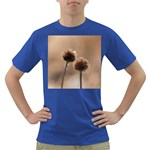 Withered Globe Thistle In Autumn Macro Dark T-Shirt Front
