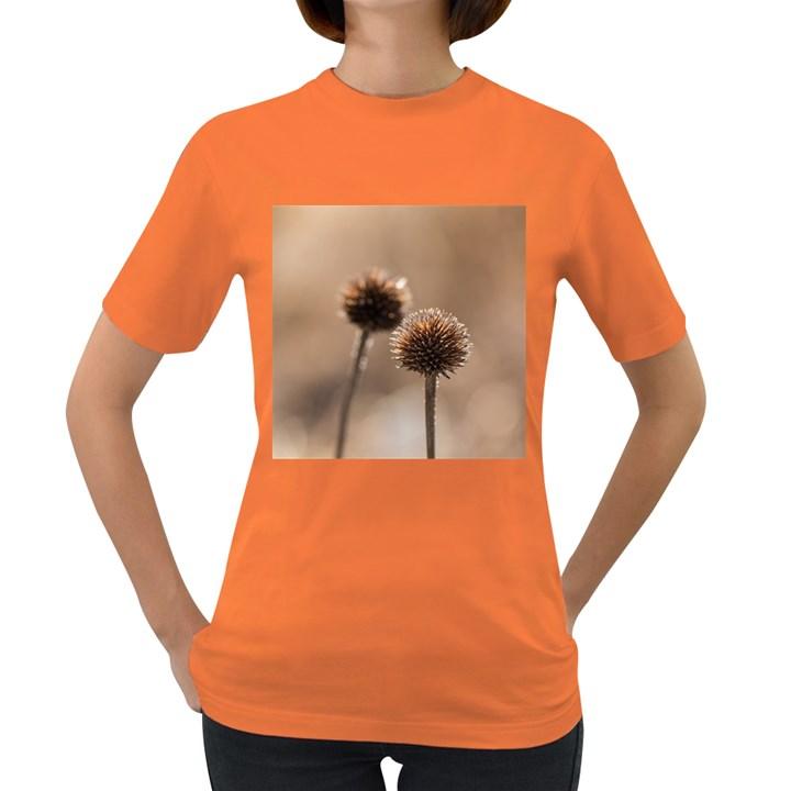 Withered Globe Thistle In Autumn Macro Women s Dark T-Shirt