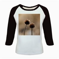 Withered Globe Thistle In Autumn Macro Kids Baseball Jerseys