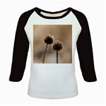 Withered Globe Thistle In Autumn Macro Kids Baseball Jerseys Front