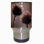 Withered Globe Thistle In Autumn Macro Travel Mugs (White) Center