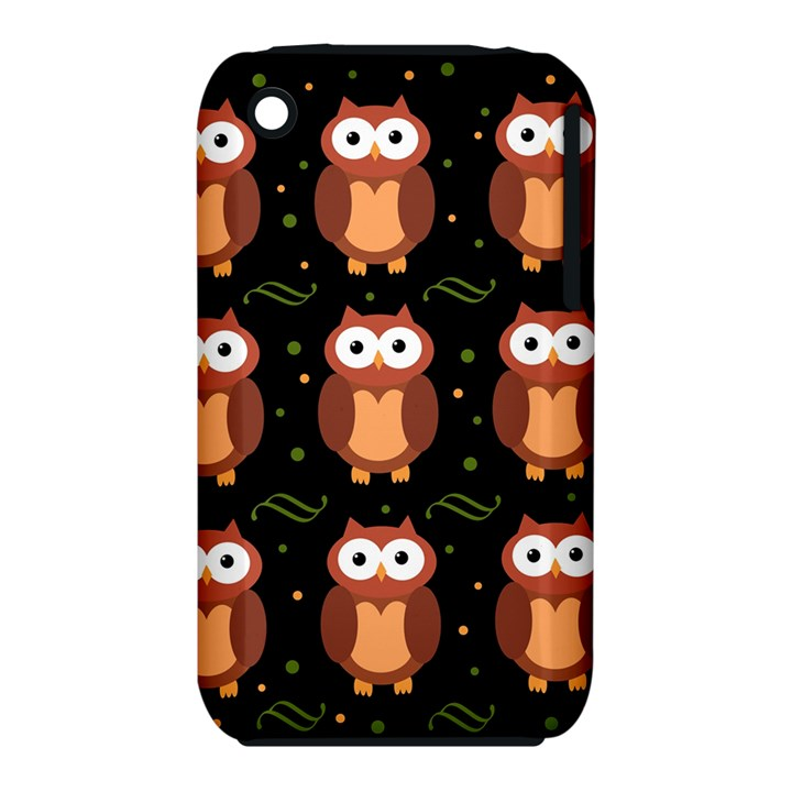 Halloween brown owls  Apple iPhone 3G/3GS Hardshell Case (PC+Silicone)