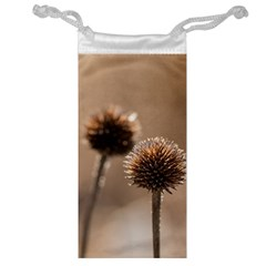 Withered Globe Thistle In Autumn Macro Jewelry Bags
