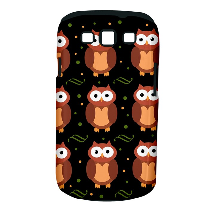 Halloween brown owls  Samsung Galaxy S III Classic Hardshell Case (PC+Silicone)