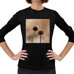 Withered Globe Thistle In Autumn Macro Women s Long Sleeve Dark T-Shirts Front