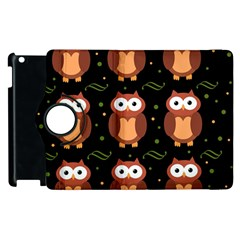 Halloween brown owls  Apple iPad 2 Flip 360 Case