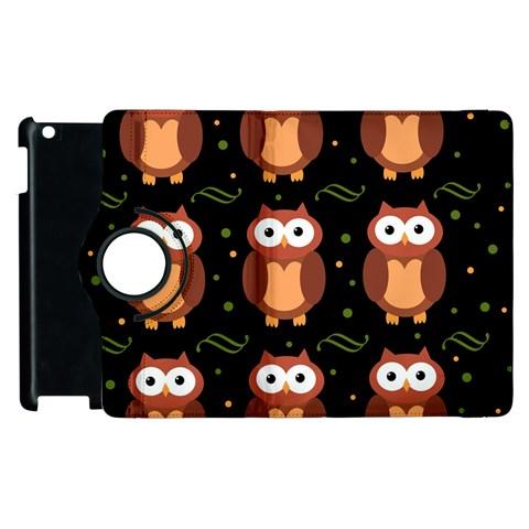 Halloween brown owls  Apple iPad 3/4 Flip 360 Case
