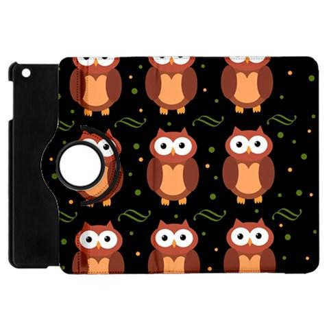 Halloween brown owls  Apple iPad Mini Flip 360 Case