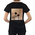 Withered Globe Thistle In Autumn Macro Women s Loose-Fit T-Shirt (Black) Back