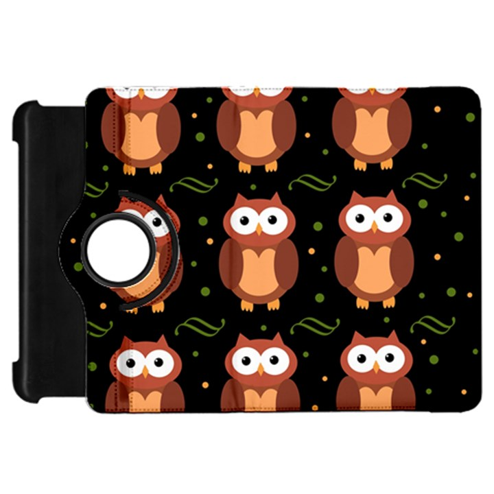 Halloween brown owls  Kindle Fire HD Flip 360 Case