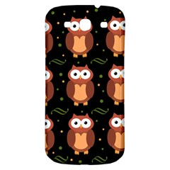 Halloween Brown Owls  Samsung Galaxy S3 S Iii Classic Hardshell Back Case