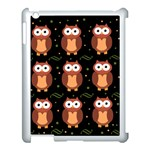 Halloween brown owls  Apple iPad 3/4 Case (White) Front