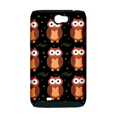 Halloween brown owls  Samsung Galaxy Note 2 Hardshell Case (PC+Silicone)