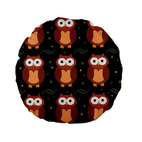 Halloween brown owls  Standard 15  Premium Round Cushions