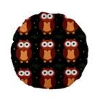 Halloween brown owls  Standard 15  Premium Round Cushions Front