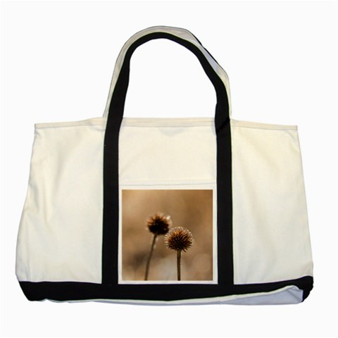 Withered Globe Thistle In Autumn Macro Two Tone Tote Bag