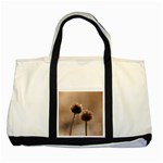 Withered Globe Thistle In Autumn Macro Two Tone Tote Bag Front