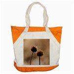 Withered Globe Thistle In Autumn Macro Accent Tote Bag Front