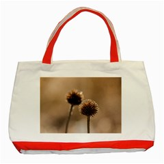 Withered Globe Thistle In Autumn Macro Classic Tote Bag (red)