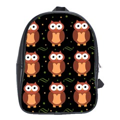 Halloween Brown Owls  School Bags (xl)