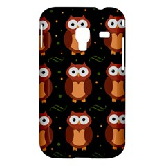 Halloween brown owls  Samsung Galaxy Ace Plus S7500 Hardshell Case